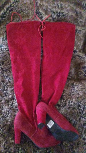 *New*Burgundy Red Thigh High Boots for Sale in Chicago, IL
