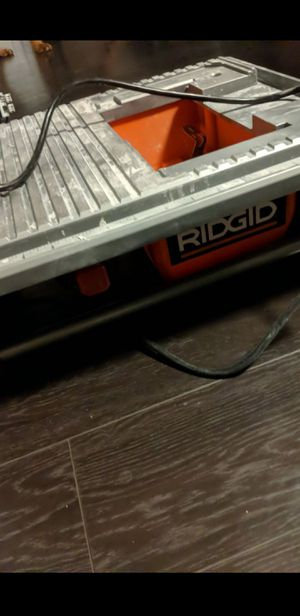 RiDGid 7iN weT TaBIe ToP TiLe sAW for Sale in Santa Ana, CA