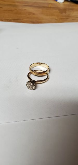 Womens wedding band and 7 diamond cluster for Sale in Glen Raven, NC