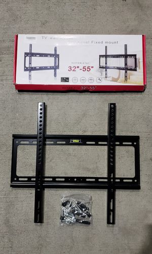 Brand New universal LCD LED Plasma Flat Fixed TV Wall Mount stand bracket fits 32 to 55 inch tv sizes television bracket 100 lbs capacity for Sale in South El Monte, CA