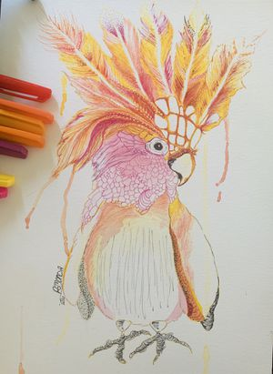 Ink with watercolor on paper for Sale in Huntington Beach, CA