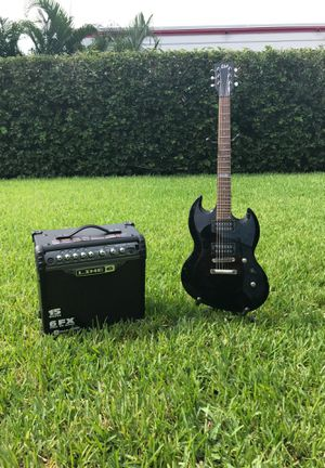 LTD Electric Guitar and Line 6 Amplifier Bundle. Perfect for beginners and intermediate musicians. for Sale in Hollywood, FL