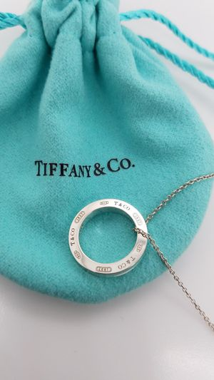 1837 Tiffany & Co. Sterling Silver Circle Pendant for Sale in Farmers Branch, TX