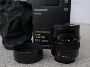 Panasonic Lumix Leica 12mm f/1.4 lens for Sale in Garden Grove, CA