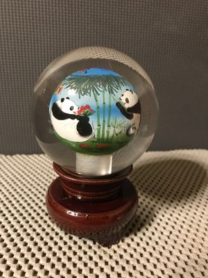 Chinese Inner Painting Panda Glass Ball for Sale in Kennesaw, GA