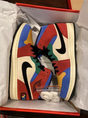 """Air Jordan 1 Mid SE Fearless Multicolor """"Blue The Great Size 10 With Receipt for Sale in Waldorf, MD"""
