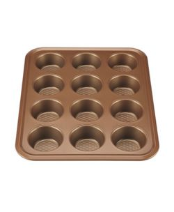 Ayesha Curry Nonstick Bakeware 12-Cup Muffin Pan, Copper for Sale in Garland,  TX