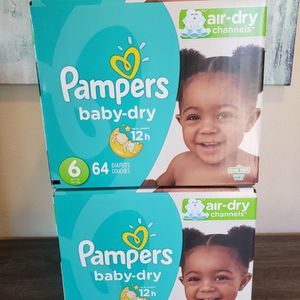 2 Boxes Of Pampers Diapers Size 6 for Sale in Bonita, CA