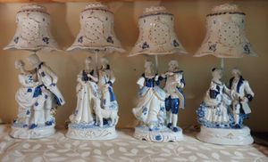 Rare Antique Blue Willow Lamps $80.00 Each Firm for Sale in Graham, NC