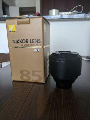 Nikon 85mm f/1.4g for Sale in Chicago, IL