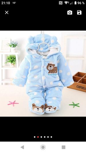 Both $12. Warm snowsuit and coat for babies. Size 9-12 months. for Sale in Vancouver, WA