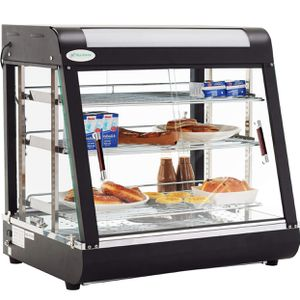 Nurxiovo 27inch Countertop Food Warmer Display Cases Pizza Commercial Heated Bakery Stainless Steel Hot Pastry Restaurant self Service Empanda Patty for Sale in Alhambra, CA