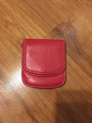 Taxi Wallet Red Small Folding LEATHER Minimalist Card Coin Front Pocket Wallet for Men & Women for Sale in Royal Oak, MI