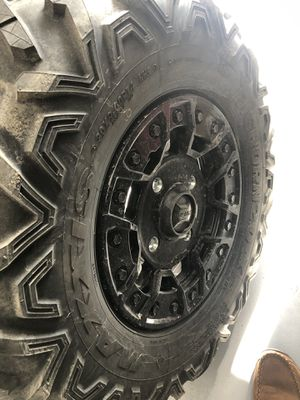 Can am x3 wheels and tires. Beadlock rims 2020 rr for Sale in Ontario, CA