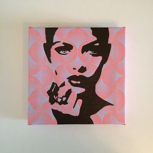 Pink blue pop art canvas for Sale in Miami, FL