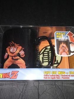 Dragon Ball Z Goku Super Saiyan Color Change Mug and Coaster Set Black for Sale in Doral,  FL