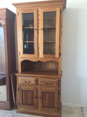 Solid oak hutch for Sale in Chandler, AZ