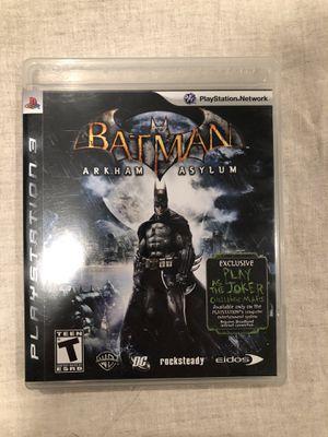 Batman Arkham Asylum PS3 game for Sale in Rancho Santa Fe, CA