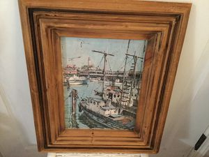 Picture Printed Framed Fisherman's Wharf San Francisco by Don Davey '68 Vintage for Sale in Lakebay, WA
