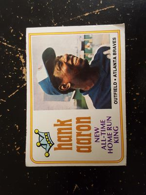 Hank Aaron All Time home run king card for Sale in Suwanee, GA