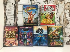 WaltDisney Movies Six Dvds for Sale in Denver, CO