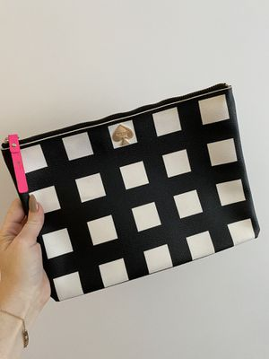 Kate Spade Black and White Checkered Clutch/Pouch for Sale in Miami, FL