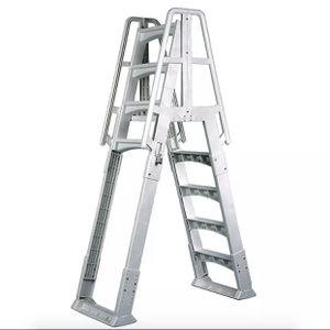 Vinyl Works SLA A-Frame Adjustable 48-56 Inch Above Ground Pool Ladder, White for Sale in Arlington, TX