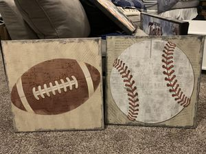 10 sport decor items for 75.00 for Sale in Highland Charter Township, MI