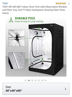 """TUSY 48""""x48""""x80"""" Indoor Grow Tent for Sale in Oakland, CA"""