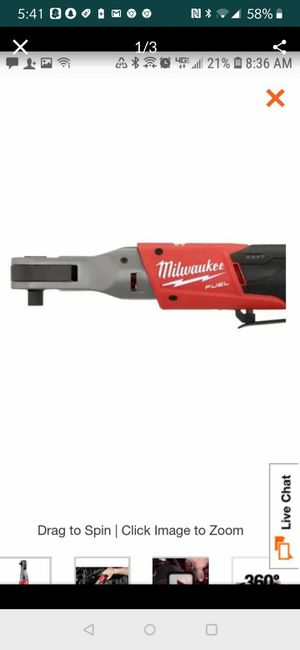 Brand new in box Milwaukee M12 FUEL 12-Volt Lithium-Ion Brushless Cordless 1/2 in. Ratchet (Tool-Only) for Sale in Austin, TX