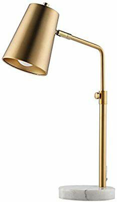 CO-Z Gold Desk Lamps with Marble Base, Elegant Metal Shade Task Lamps with 9.5W E26 Bulb for Table Living for Sale in Fullerton, CA