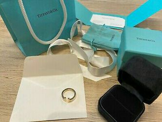 Tiffany & Co  T Square Ring 750(18K) Rose(Pink) Gold 6.5 Size (USA) for Sale in Washington,  DC