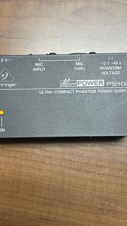 Behringer Micro Power PS400 Phantom Power Supply for Sale in Westland,  MI