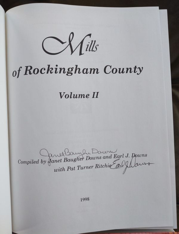Mills of Rockingham County, 4 Volumes, 2 signed