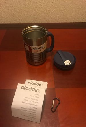 Brand New Aladdin keep hot or cold drink travel mug for Sale in Tacoma, WA