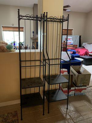 Pair of Shelves / Bookshelves w glass. Great for dorm. for Sale in Phoenix, AZ