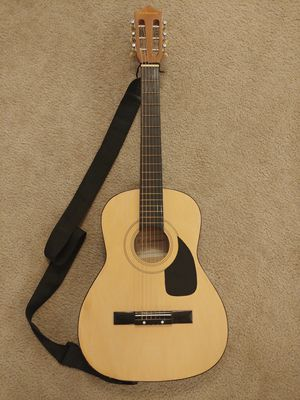 Acoustic Guitar with Strap and New Strings by T.A. Lawrence for Sale in Kenmore, WA