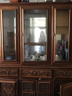 Antique Caoba Wooden Hutch $500 OBO for Sale in Silver Spring,  MD