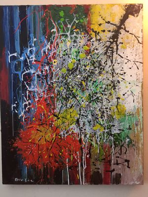 "Abstract painting canvas 30"" for Sale in Palisades Park, NJ"