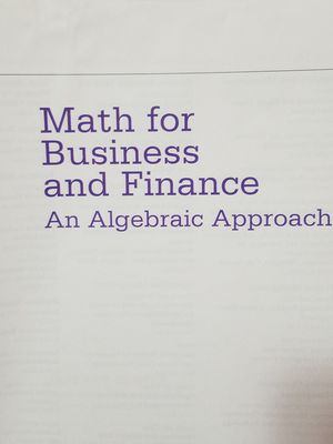 Math for business and finance book for Sale in Federal Way, WA