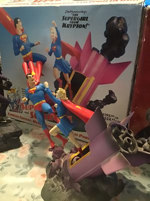 Rare Superman statue and supergirl good size for Sale in Sacramento, CA