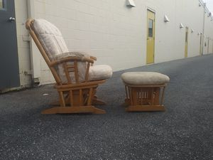 Gliding chair with gliding ottoman for Sale in Philadelphia, PA