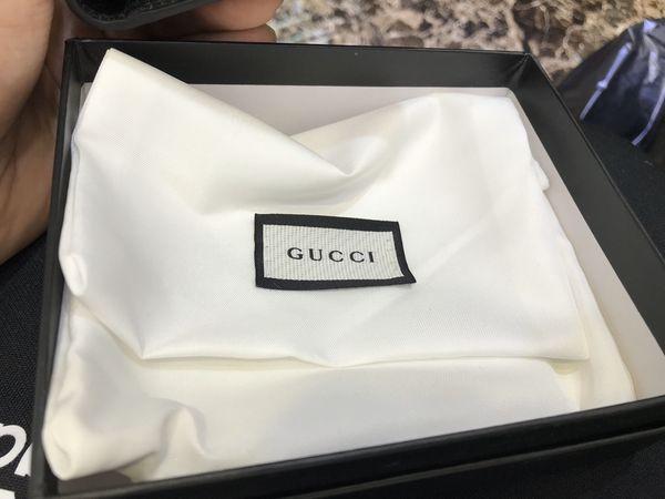 new Gucci black leather snake men's wallet