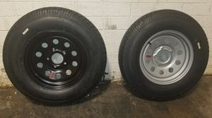 I have 2 Black Mod assemblies left 5/26/20 - ST205 75 D 550 BOLT PATTERN, TRAILER WHEEL & TIRE ASSEMBLY - $75.00 each 55000 for Sale in Waddell, AZ