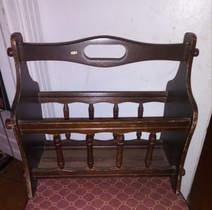 Vintage Wood Magazine Rack for Sale in Fort Worth, TX