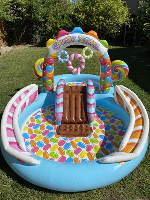 Intex Kids Inflatable Candy Zone Swim Play Center Kids Splash Pool w/ Waterslide for Sale in Fremont, CA