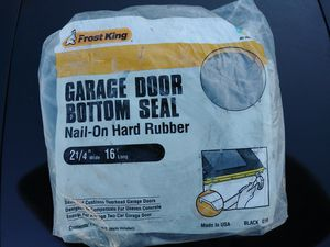 Frost King Garage Door Bottom Seal for Sale in Tacoma, WA