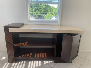 Tv stand with marble top and storage for Sale in West Palm Beach, FL