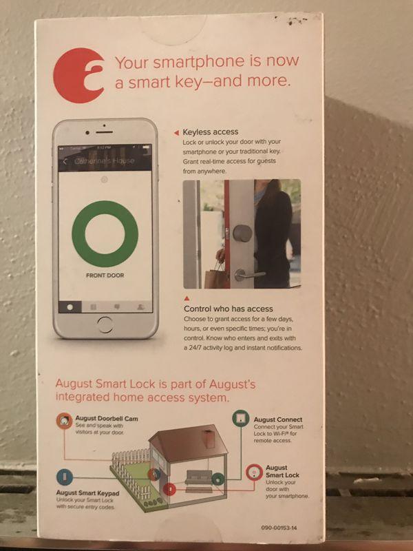 August Generation 3 Bluetooth &Wifi door lock
