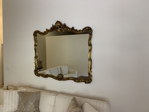 Rococo shell antique mirror. 61 inches wide by 51 high for Sale in Gulf Stream, FL